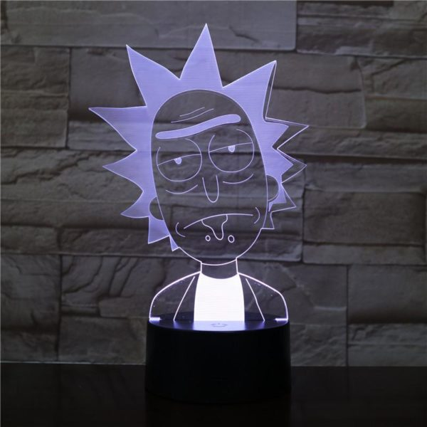 SP01 - 3D Led Night Light Rick and Morty 12810153689152