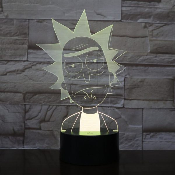 SP01 - 3D Led Night Light Rick and Morty 12810154311744