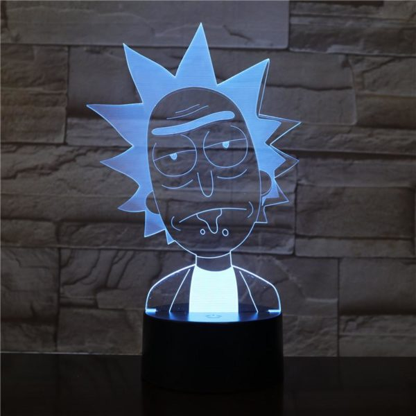 SP01 - 3D Led Night Light Rick and Morty 12810196156480