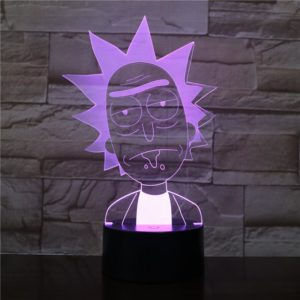 SP01 - 3D Led Night Light Rick and Morty 12810153787456