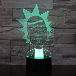 SP01 - 3D Led Night Light Rick and Morty 12810154082368