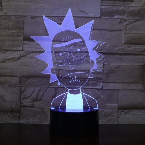 SP01 - 3D Led Night Light Rick and Morty 12810154344512