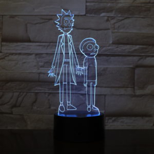 SP01-RICKMORTY02 - 3D Led Night Light Rick and Morty 12810336600128