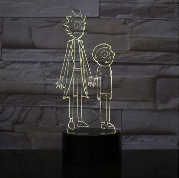 SP01-RICKMORTY02 - 3D Led Night Light Rick and Morty 12810336763968