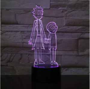 SP01-RICKMORTY02 - 3D Led Night Light Rick and Morty 12810336927808