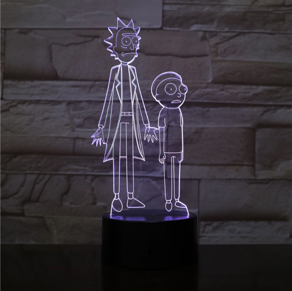 SP01-RICKMORTY02 - 3D Led Night Light Rick and Morty 12810336370752