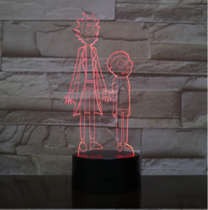 SP01-RICKMORTY02 - 3D Led Night Light Rick and Morty 12810336534592