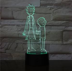 SP01-RICKMORTY02 - 3D Led Night Light Rick and Morty 12810336567360