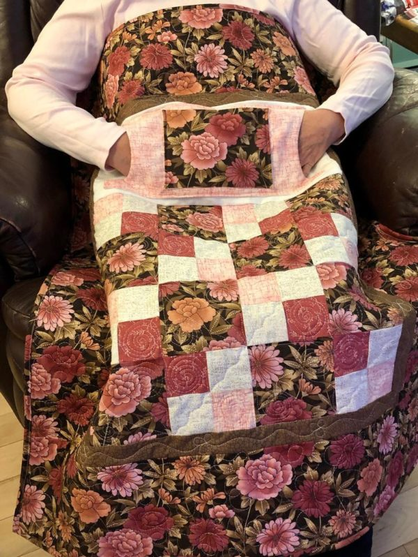 LQUILT - Lap Quilts With Pocket - [Pink and Brown Lovie] - [85 x 105cm] 5d9203fe72a398d6b65a9048